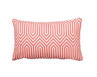 7 Sizes Available: Coral Pillow Cover Coral Throw Pillow Cover Decorative Pillow Cushion Cover Geometric Pillow Lumbar Pillow Accent Pillow
