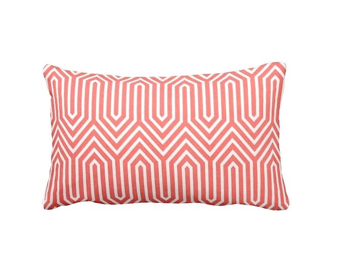 Standard Throw Pillow Cover Sizes : 7 Sizes Available: Coral Pillow Cover Coral Throw Pillow Cover
