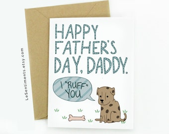 Father's Day Card From Dog - Card From The Dog - Father's Day Card - Dog Card