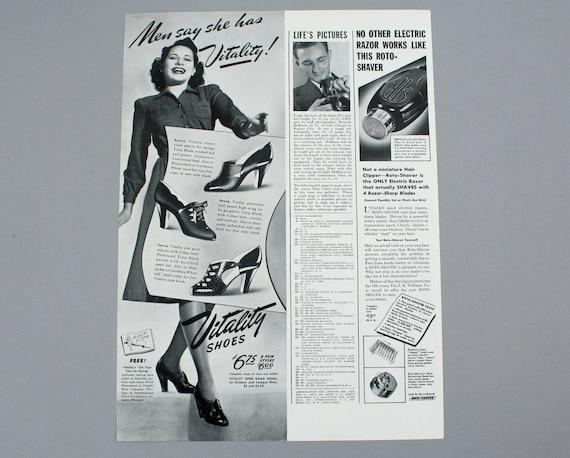 1940 Vitality Shoes Ad 1940s Womens High Heels Eunice