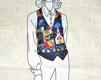 Country Blessings Vest, Cut Sew Cotton Fabric Panel, Church, Angels Doves, Bible, Religious Womens Size Small-Medium 6 8 10 12 14 Bust 30-36