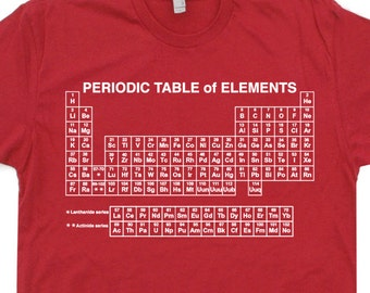 Periodic Table Of Elements T Shirt Science Shirts Periodic Table T Shirt Chemistry Geek Tshirt Nerd Scientific Saying Mens Womens Kids Tees