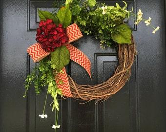 Summer door wreath, wreaths, front door wreath, spring wreath