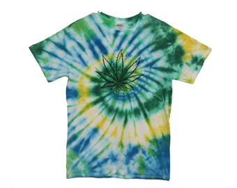 FREE SHIPPING Tie Dye Pot Leaf Shirt (Choose Your Own Colors!)