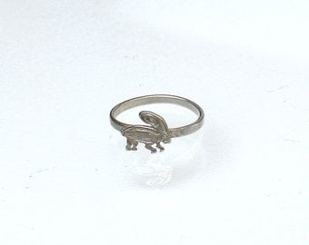 Simple Midi Ring - Cute Animal Ring - Cute Knuckle Ring - Bunny Midi Ring - Rabbit Midi Ring - Brass MIdi Ring - Silver Plated Toe Ring