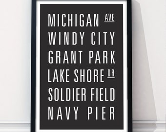 CHICAGO Subway Art Print - Customizable