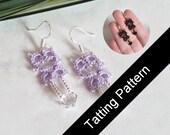 PDF Tatting Pattern Lillian Earrings - Small and Mini Designs - Intermediate - Instant Download