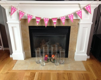 Baby Shower Banner || It's a Girl || Baby Shower Decoration || Pink || Ombre Pink ||  Nursery Garland || Nursery Decor
