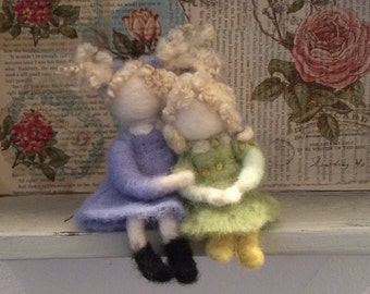 Needle felted Sisters