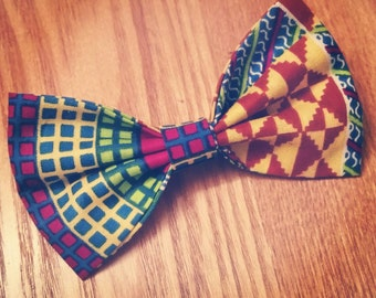 Ankara Print BowTie - Digital Bliss (Ties, Bow Tie, Unisex, Neckwear, Neck Piece, African Fashion, Adjustable Neckband)