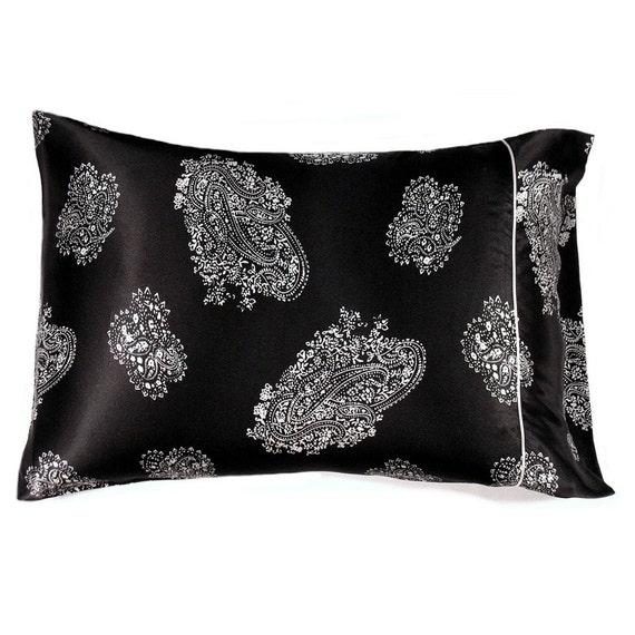 Black And White Satin Standard Size Pillowcase Satin Pillow