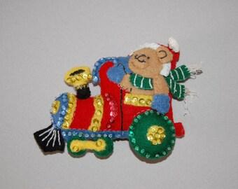 Teddy Bear Express Christmas Ornament set