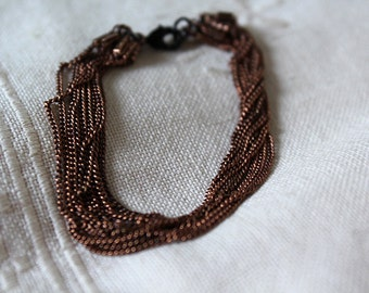 Bracelet multi-strand copper metal, an air of starting chain...