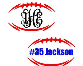 Football instant download cut file - SVG DXF EPS ps studio3 studio (fonts sold separately)