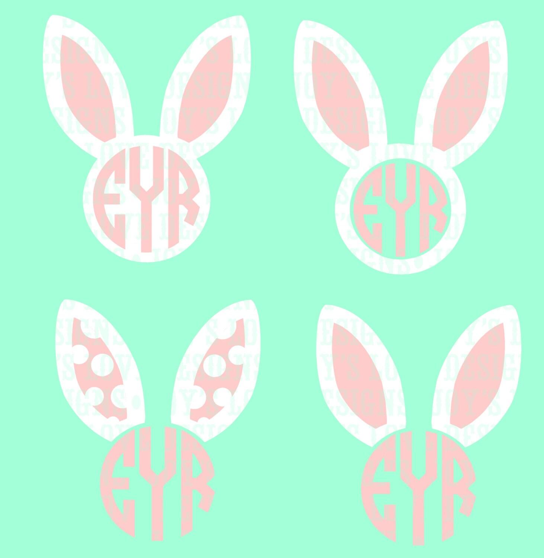 Bunny monogram svg | Etsy
