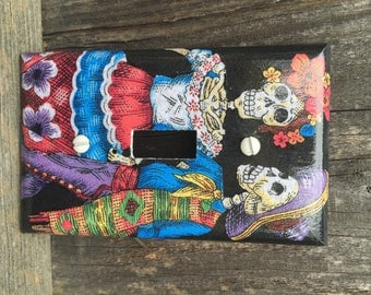Skeleton Couple Switch Plate Cover
