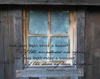 Rustic barn window - Nature print with inspirational quote - Instant download - 8 x 10