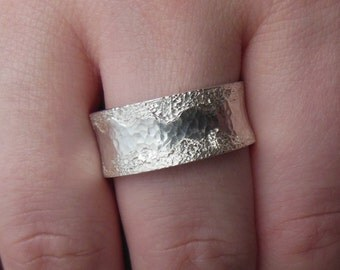 Wide Silberring(10-13mm), band ring, wedding ring, Lady ring, Mr. ring
