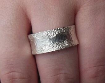 Wide silver ring (10 mm), band ring, wedding ring, Lady ring, men ring