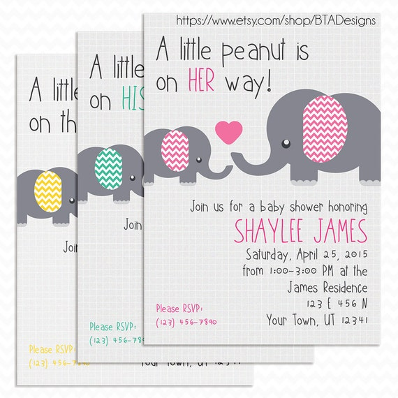 little peanut baby shower invitation customized by btadesigns