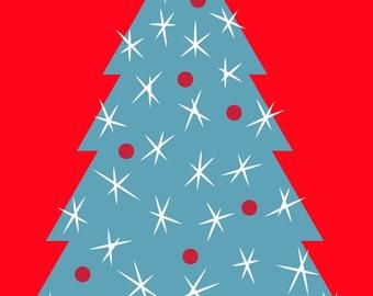 christmas tree digital download 8x10 printable art.
