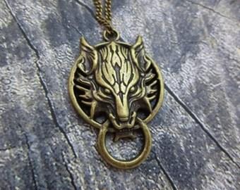 Final Fantasy VII Advent Children Cloud necklace