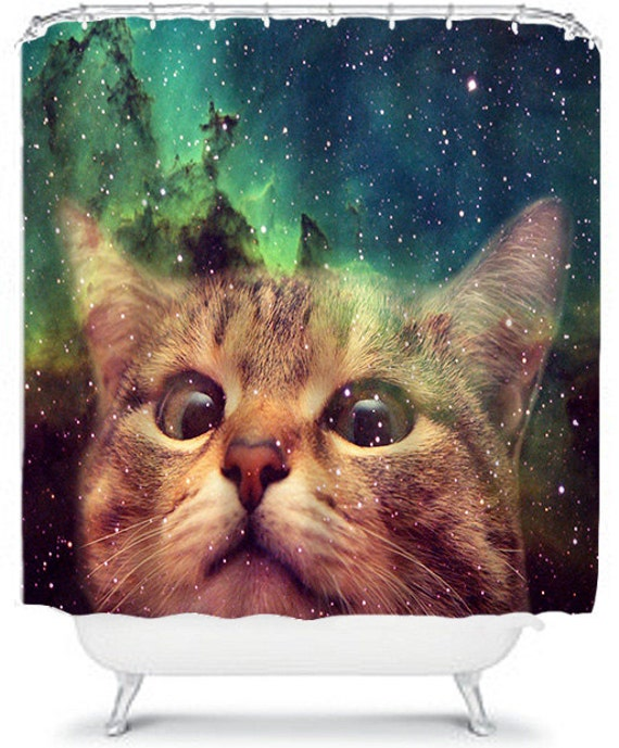 Epic Space Cat Shower Curtain Cat In Space Home Decor