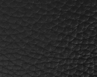 """Black Textured PVC Leather 55"""" (Sold By The Yard)"""
