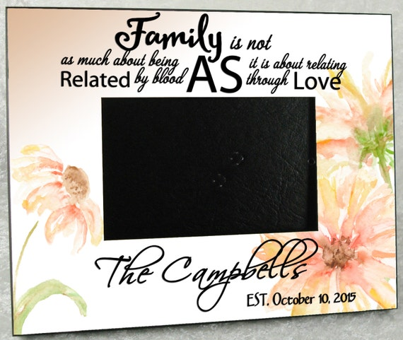 Wedding Gift Ideas Blended Family : Blended Family Personalized Gift Wedding Photo Frame - 8