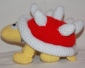 Hand Crochet Spiny From Super Mario Bros Videogame
