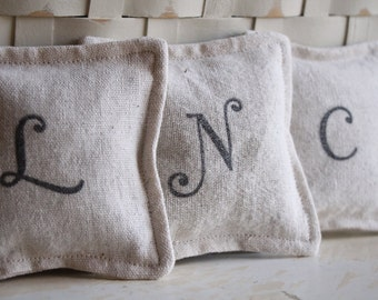 Personalized Lavender Sachet, Hand-stamped Lavender Sachet, Initial Sachet, Organic Lavender, Lavender Gift, Personalized Sachet, Lavender