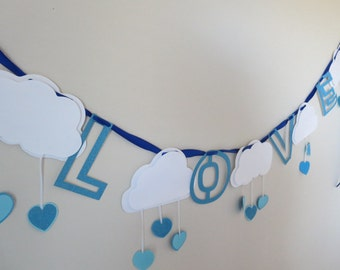 Showered with Love Baby Shower Banner Bridal Shower Banner