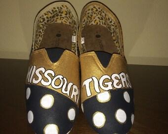 Mizzou MU Tigers kid's shoes