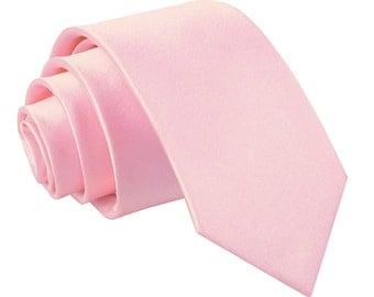 Satin Baby Pink Boy's Tie