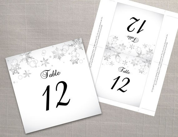 diy printable wedding table number fold template editable ms. Black Bedroom Furniture Sets. Home Design Ideas