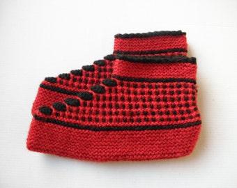 Bulgarian Hand Knit Wool Slippers