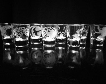 Game of Thrones Shot Glass Set of 8