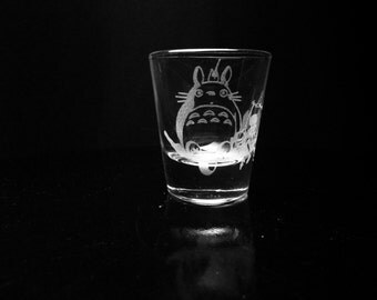 My Neighbor Totoro- Studio Ghibli- Shot Glass- Etched