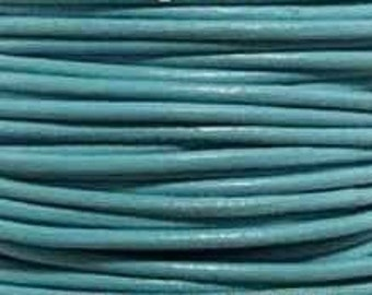 Leather Cord, 1.5 mm, Turquoise, 1YD (LC-1.5-17)