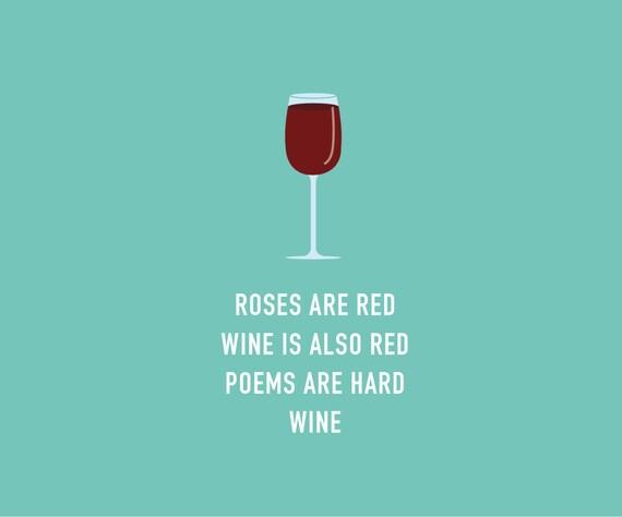 Funny Valentines Card Funny Wine Card By ClassyCardsCreative