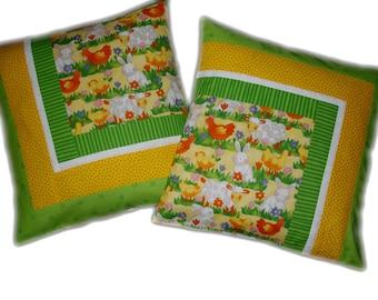 2 cute cushion covers for the nursery