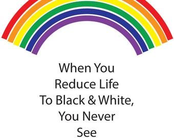 Rainbow Pride Card; Pride Card, Pride Cards, Rainbow Cards ,Rainbow Card, Gay Pride Card, Gay Rainbow Card****  VMFR1009