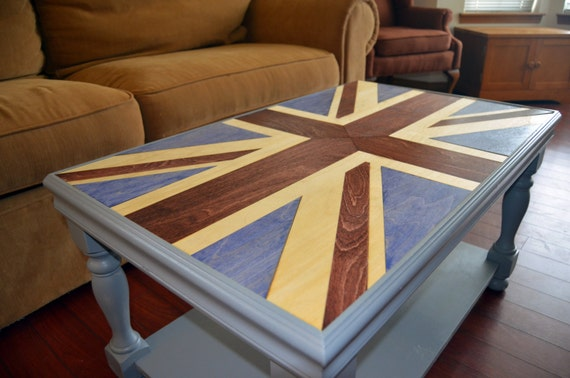 Union Jack Coffee Table By Kineticcuriosities On Etsy