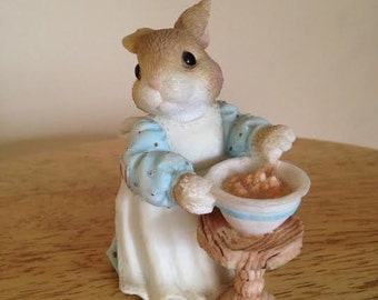 "My Blushing Bunnies ""A mom like you is a blessing come true"" Priscilla Hillman Enesco Figurine"