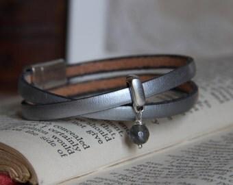 Italian Leather Double Wrap Bracelet