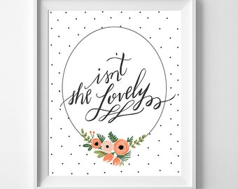 baby girl nursery print baby stuff girls bedroom art baby girl nursery ideas baby gifts baby items isn't she lovely nursery printable