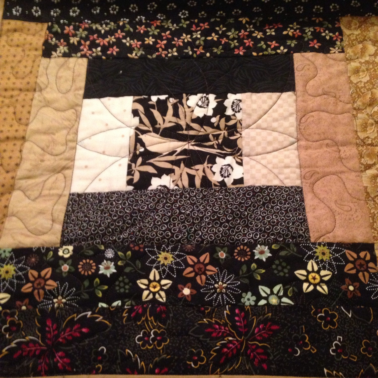 quilted king sized bed runner by anacapatrading on etsy. Black Bedroom Furniture Sets. Home Design Ideas