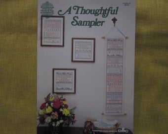 A Thoughtful Sampler, cross stitch pattern booklet,alphabet
