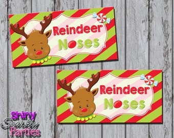 Elf kisses treat bag toppers christmas by shinysparklyparties