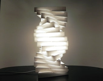Lamp made of corrugated cardboard, HelixT